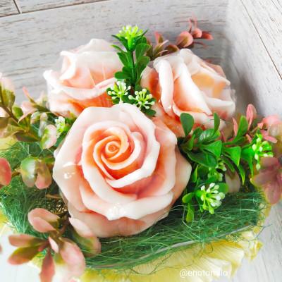 """""""Три крупных розы"""" №1, букет из мыла ручной работы"""