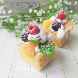 """""""Пирожное Наполеон"""", мыло ручной работы"""