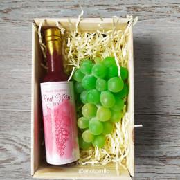 """""""Красное вино и зелёный виноград"""", набор мыла ручной работы"""