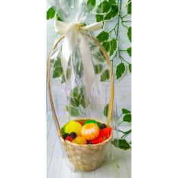 Набор фруктов в корзине №1, комплект мыла ручной работы