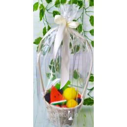 Набор фруктов в корзине №2, комплект мыла ручной работы