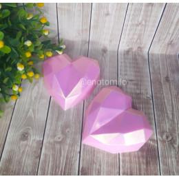 Гранёное сердце №2, мыло ручной работы