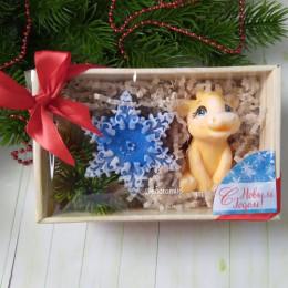 """""""Новогодняя композиция в коробке №2"""", мыло ручной работы"""