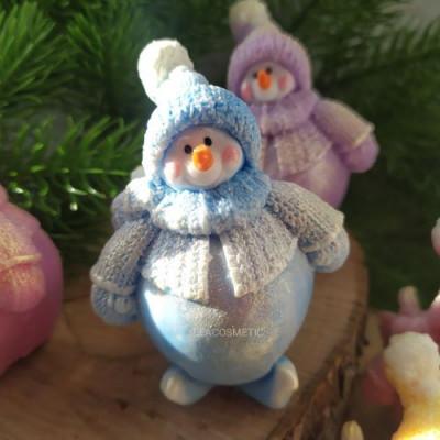 """""""Снеговик Пухляш  мини,"""" мыло ручной работы"""